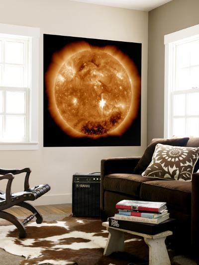 A Massive X-Class Solar Flare Erupts on the Sun-Stocktrek Images-Wall Mural
