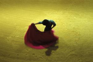 A Matador Warming Up in a Private Arena