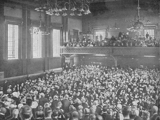 A May meeting, Exeter Hall, London, c1903 (1903)-Unknown-Photographic Print
