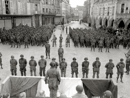 A Medal Ceremony for Men of the 101st Airborne Division, Carentan,  Normandy, France, 20th June 1944 Photographic Print by | Art com