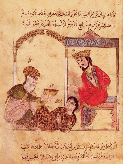"""A Medical Consultation, from """"Book of Kalila and Dimna""""--Giclee Print"""