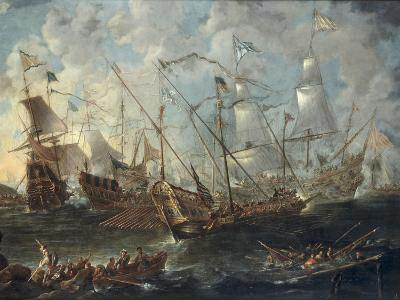 A Mediterranean Naval Battle-Kaspar van Eyck-Giclee Print