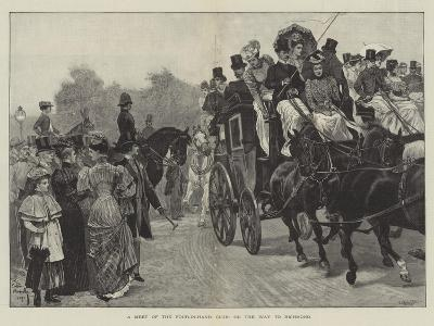 A Meet of the Four-In-Hand Club, on the Way to Richmond-Richard Caton Woodville II-Giclee Print