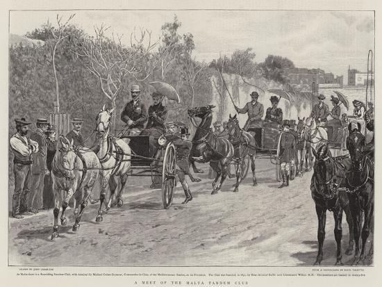A Meet of the Malta Tandem Club-John Charlton-Giclee Print