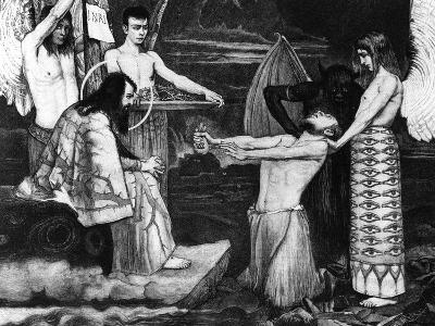 A Meeting, Judas before Christ, 1896-Sascha Schneider-Giclee Print