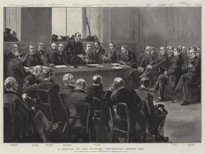 A Meeting of the Colonial Conference, London, 1887