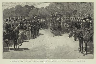A Meeting of the Four-In-Hand Club in Hyde Park, the Coaches Leaving the Magazine for Hurlingham-John Charlton-Giclee Print