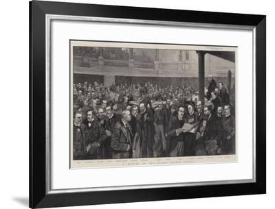 A Meeting of the London County Council-Thomas Walter Wilson-Framed Giclee Print