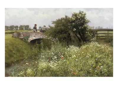 A Meeting on the Bridge-Emile Claus-Giclee Print