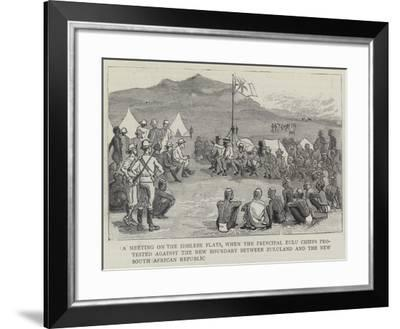 A Meeting on the Idhlebe Flats--Framed Giclee Print