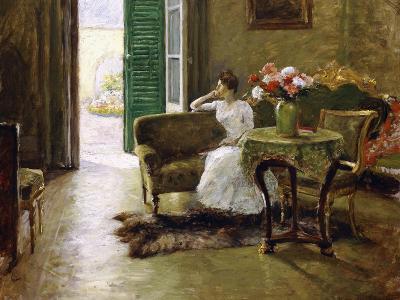 A Memory - in the Italian Villa-William Merritt Chase-Giclee Print