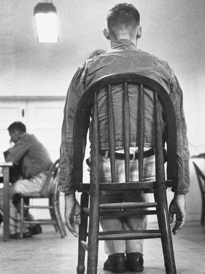 A Mentally Disturbed Patient in the North Little Rock Hospital for War Veterans--Photographic Print