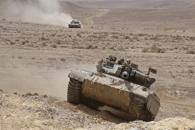 A Merkava Iii Main Battle Tank in the Negev Desert, Israel-Stocktrek Images-Photographic Print