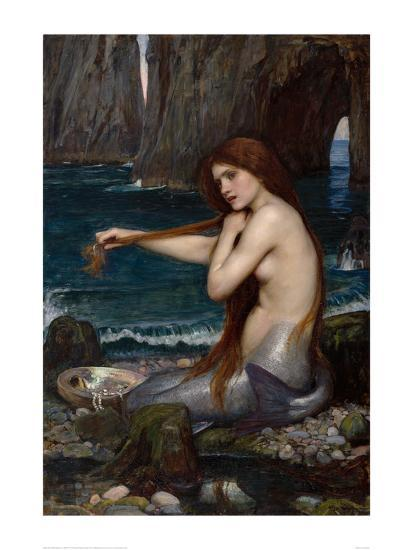 A Mermaid 1900 Art Print John William Waterhouse Art Com