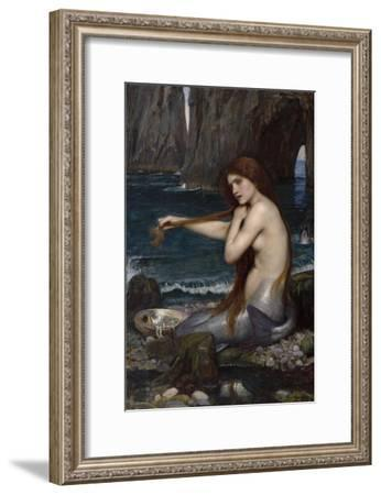 A Mermaid-John William Waterhouse-Framed Giclee Print