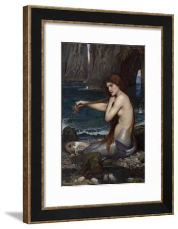 A Mermaid-John William Waterhouse-Framed Giclee Print