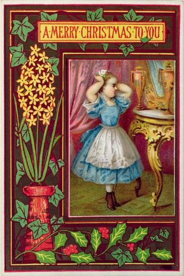 a merry christmas to you victorian christmas and new year card giclee print by artcom