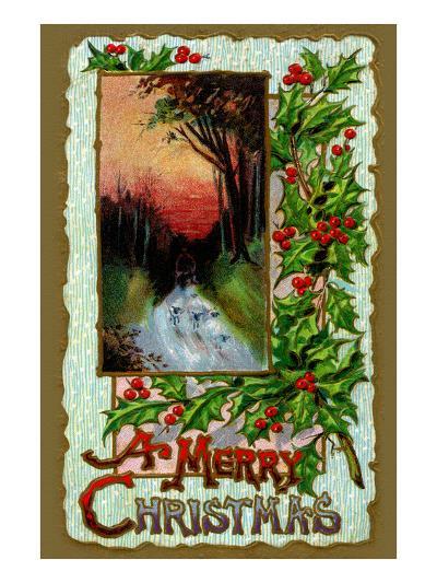 A Merry Christmas--Art Print