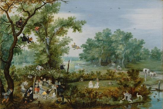 A Merry Company in an Arbor, 1615-Adriaen Pietersz van de Venne-Giclee Print