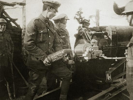 'A message for the Hun', France, World War I, 1916-Unknown-Photographic Print