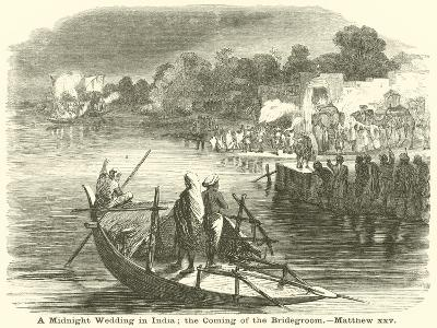 A Midnight Wedding in India; the Coming of the Bridegroom, Matthew, XXV--Giclee Print