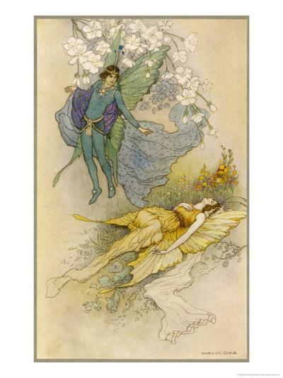 A Midsummer Night's Dream, Act II Scene II: Oberon Places a Spell on Titania-Warwick Goble-Giclee Print