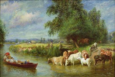 A Midsummer's Day on the Thames-Basil Bradley-Giclee Print