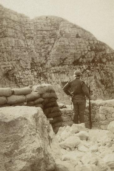 A Military Lookout During the First World War--Photographic Print