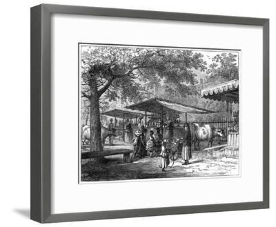 A Milk Fair, St James's Park, London, 1891-J Greenaway-Framed Giclee Print