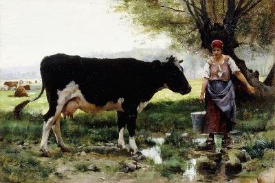 A Milkmaid with Her Cow-Julien Dupre-Giclee Print