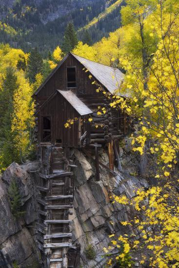 A Mill on a Rock Promontory Above the Crystal River-Robbie George-Photographic Print