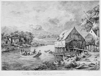 A Mill on the Banks of the River, 1774-Jean-Jacques Boissieu-Giclee Print