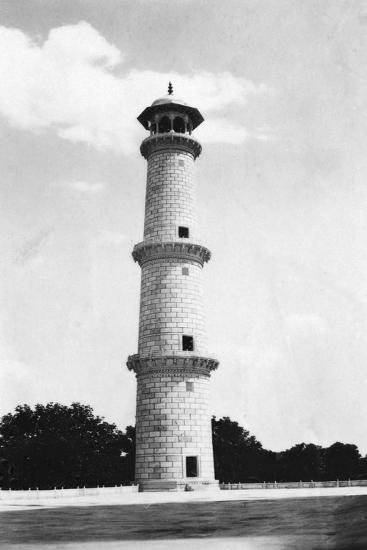 A Minaret at the Taj Mahal, Agra, India, 1916-1917--Giclee Print