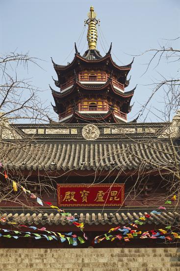 A Ming Dynasty, 15th-16th Century, Pagoda at Jiming Temple, Nanjing, Jiangsu Province, China-Nigel Hicks-Photographic Print