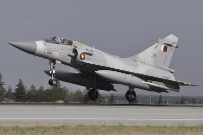 A Mirage 2000-5Eda of the Qatar Emiri Air Force Landing at Konya Air Base-Stocktrek Images-Photographic Print
