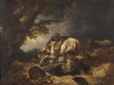 A Mishap to Market Eggs-Thomas Barker-Giclee Print