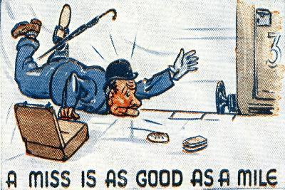 A Miss Is as Good as a Mile, 1938--Giclee Print