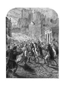 A Mob Carrying Captain John Porteous to His Execution, Edinburgh, 1736