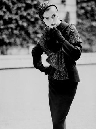 A Model of a Suit by Dress Designer Jean Desses, August 21, 1957--Photo