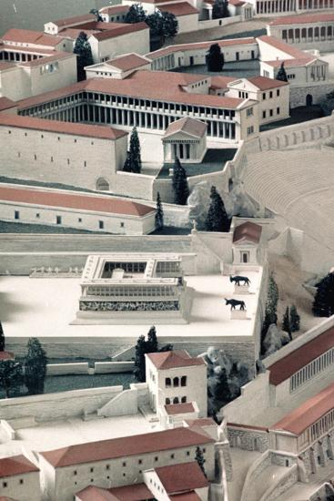 A Model of the Ancient Greek City of Pergamon--Photographic Print