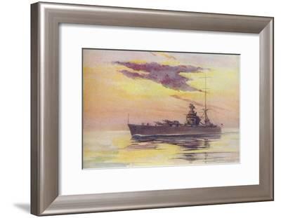 'A Modern Battleship', 1910-Constance N Baikie-Framed Giclee Print
