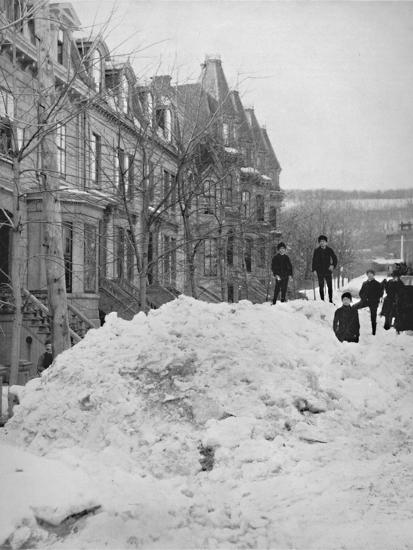 'A Montreal Street in Winter', 19th century-Unknown-Photographic Print