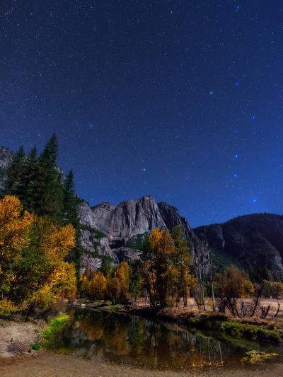 A Moonlit Autumn Night with Polaris, and Constellations Ursa Major and Ursa Minor over Aspen Trees-Babak Tafreshi-Photographic Print