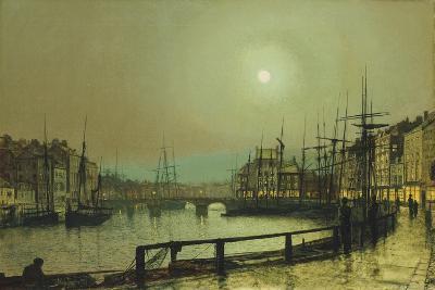 A Moonlit Harbour, 1883-John Atkinson Grimshaw-Giclee Print