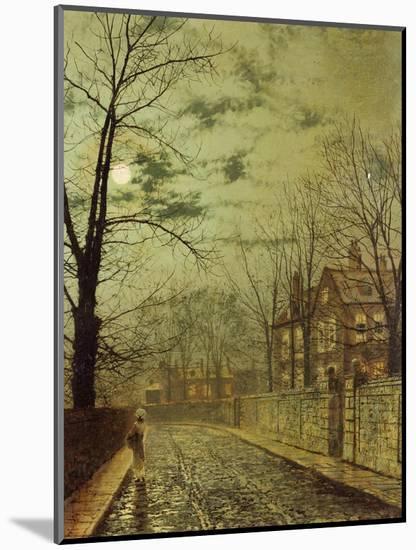 A Moonlit Road-John Atkinson Grimshaw-Mounted Premium Giclee Print