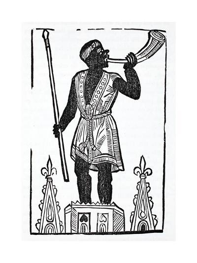 A Moor Standing on a Tower Blowing a Horn to Wake the Dead and Gather Them--Giclee Print