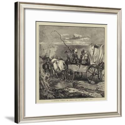 A Mormon Family on their Way to Salt Lake City-Arthur Boyd Houghton-Framed Giclee Print
