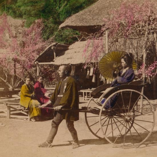 'A Morning Ride in a Jinrikisha, Sugita, Japan', 1896-Unknown-Photographic Print