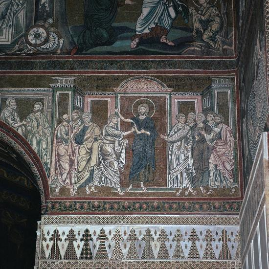 A mosaic of Doubting Thomas, 12th century-Unknown-Giclee Print