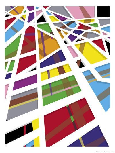 A Mosaic Shapes Texture--Art Print